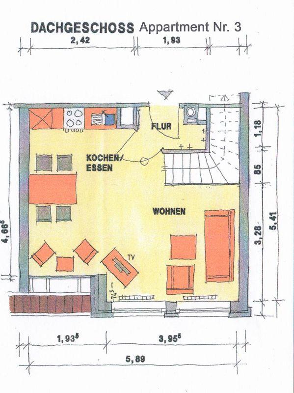 Grundriss Apartement 3