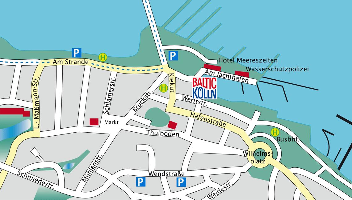 Baltic Kölln Heiligenhafen Stadtplan